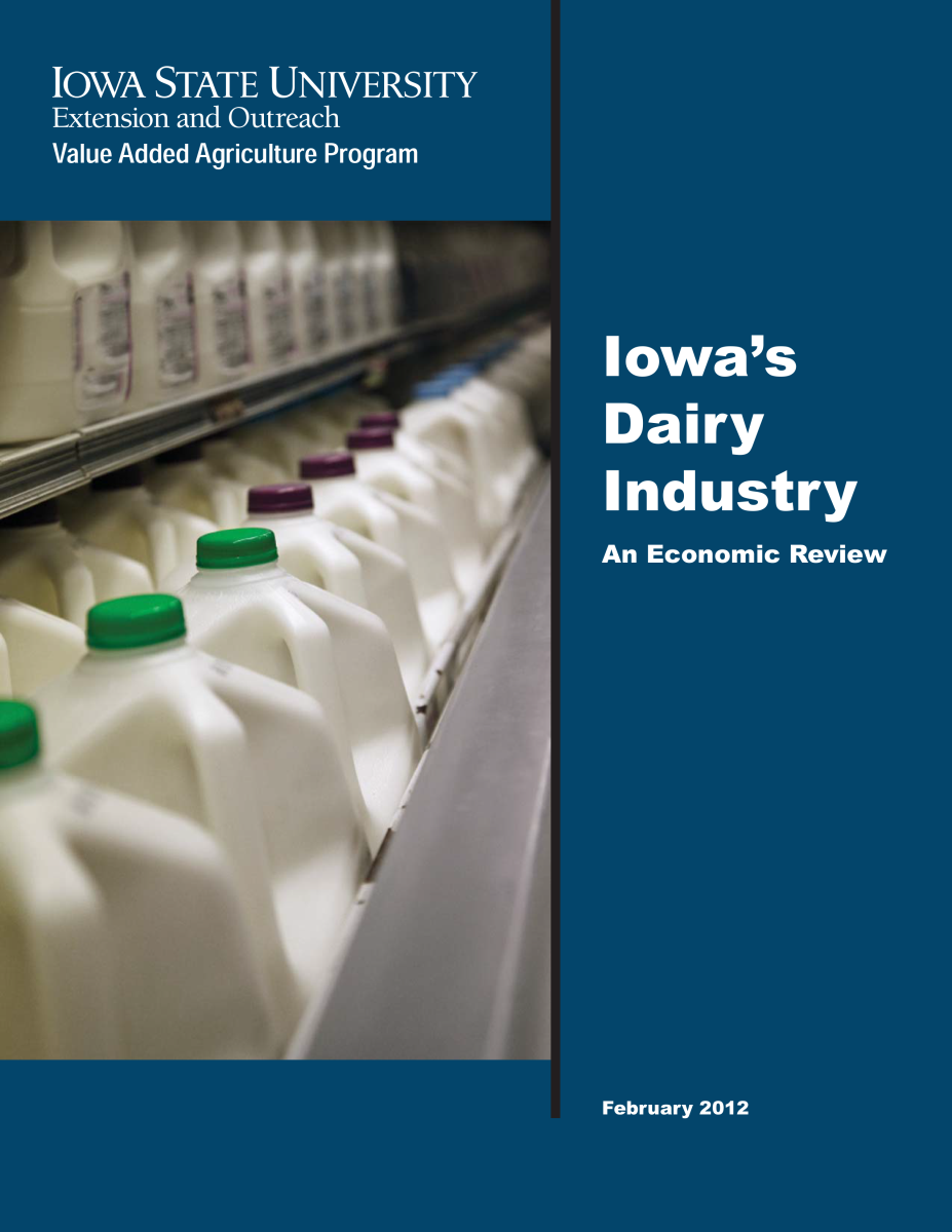Iowa's Dairy Industry Report Cover Image