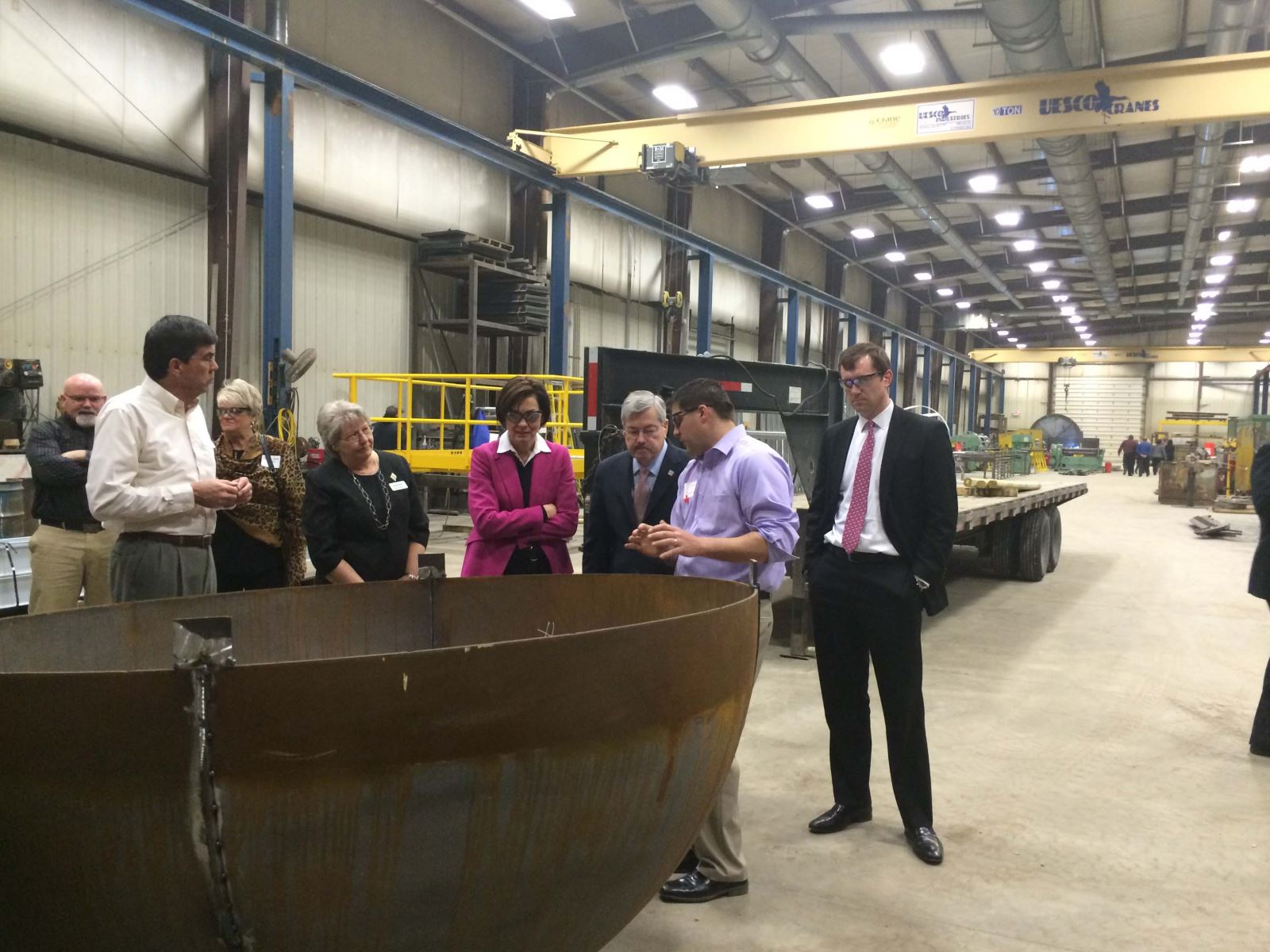 Governor Branstad tours Iowa Steel