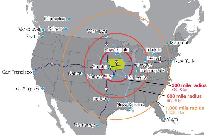 Maps | Sioux City Economic Development Department |Iowas Region Location