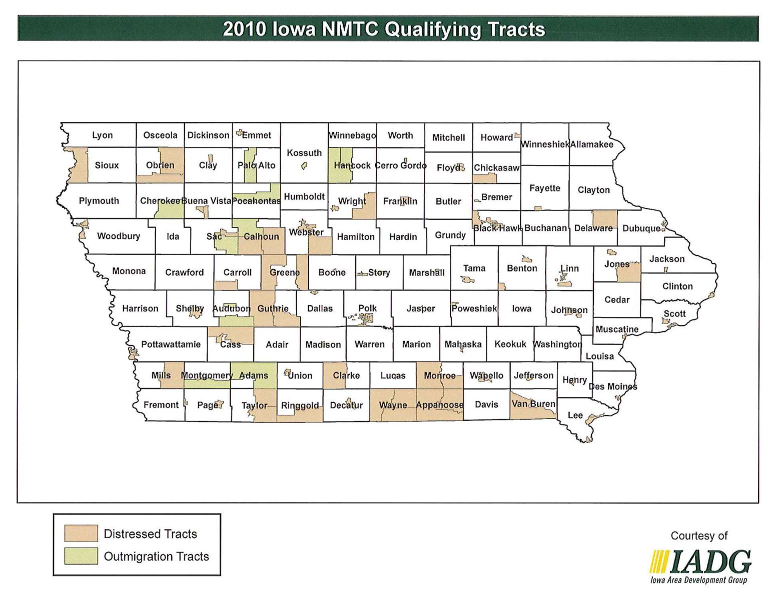 Iowa New Markets Tax Credit Qualifying Counties