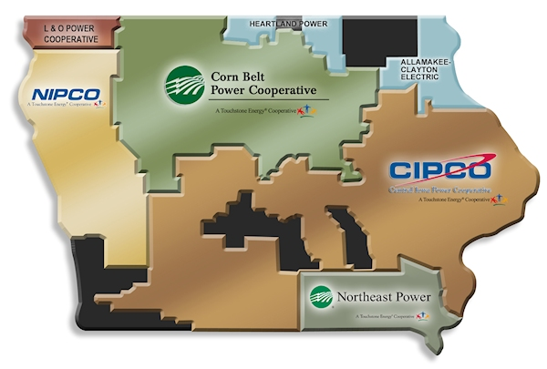 Contact IADG Staff For Assistance With Iowa Regulation And Permits - Map of electric utilities in the us