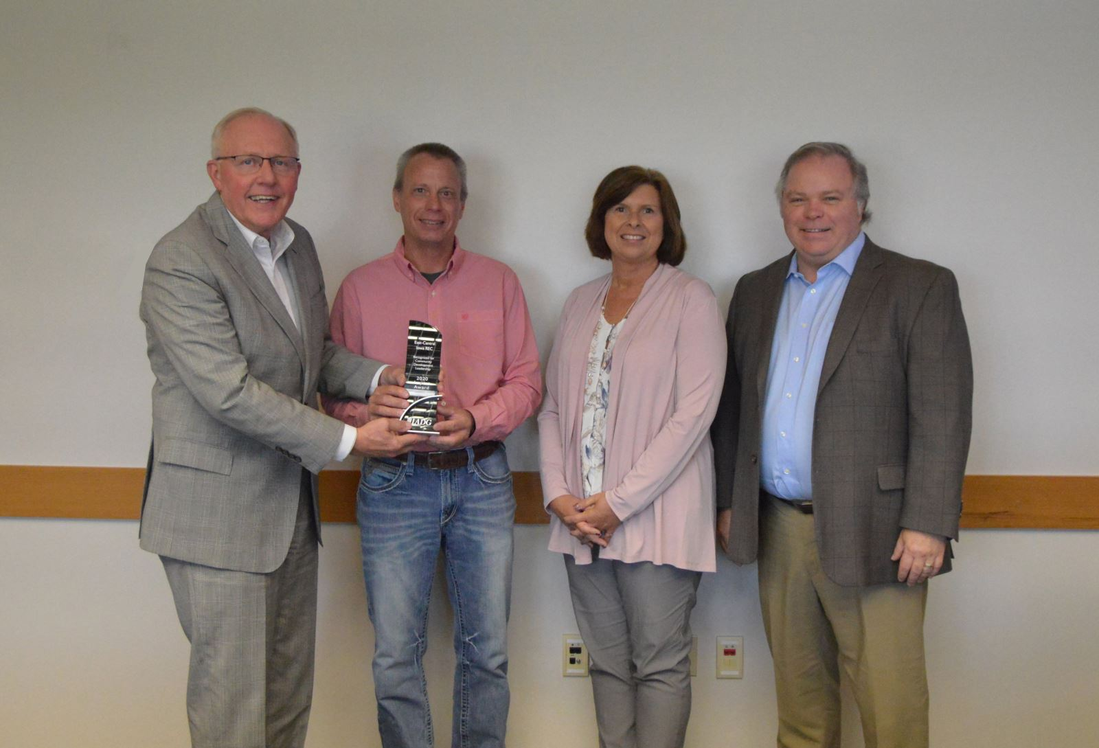 East-Central Iowa is presented with an IADG Impact Award