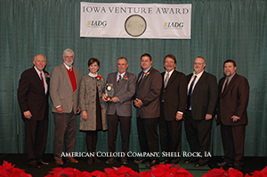 American Colloid Receives Iowa Venture Award