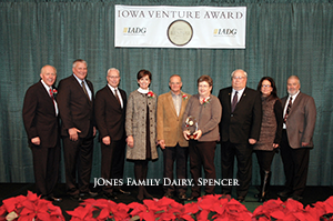 Jones Family Dairy Receives Iowa Venture Award