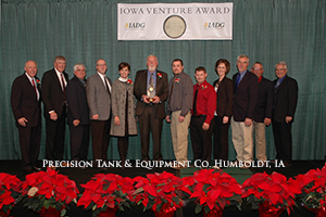 Precision Tank & Equipment Receives Iowa Venture Award