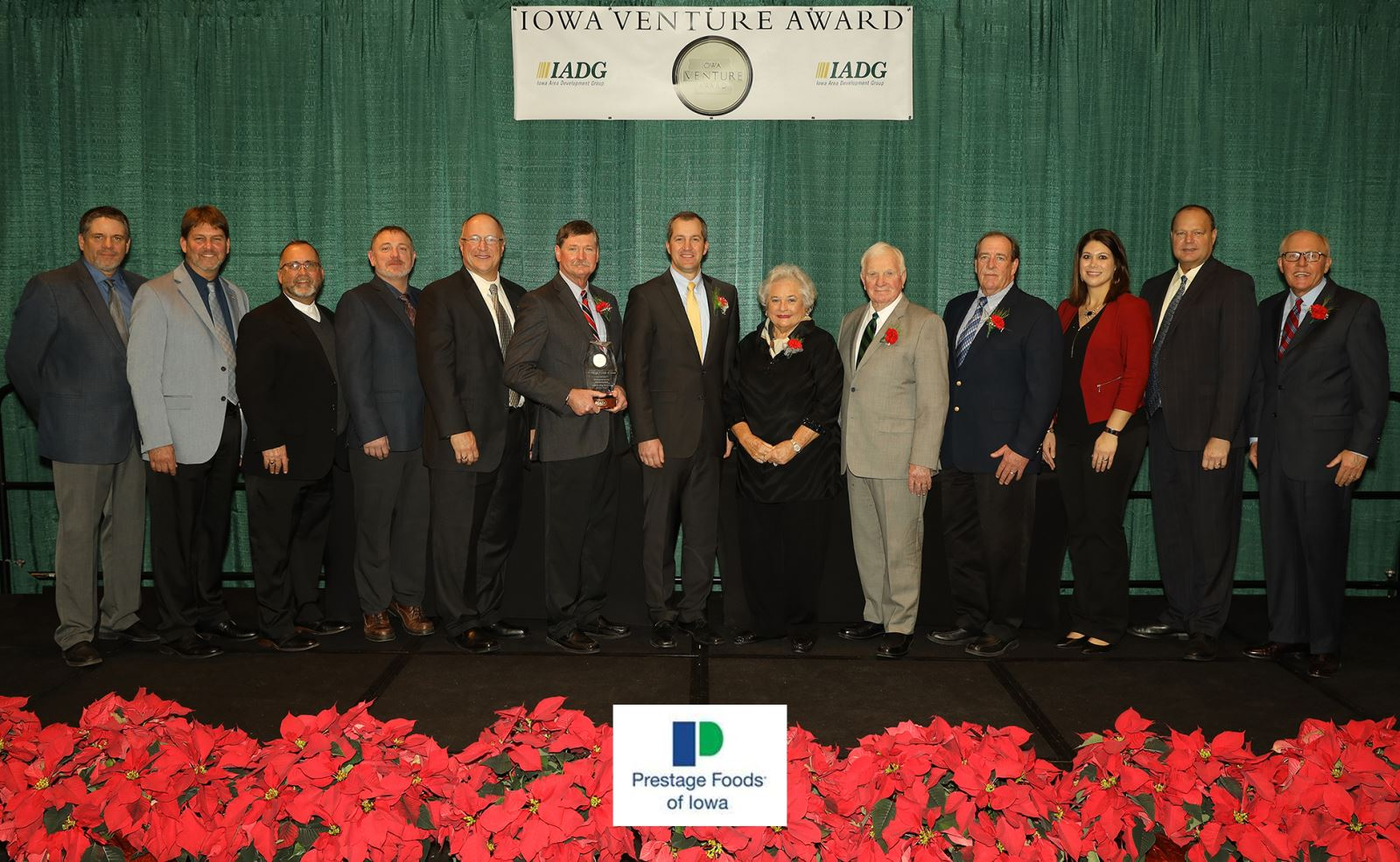 "Prestage Foods of Iowa ""Outstanding Business of the Year"" Iowa Venture Award recipient"
